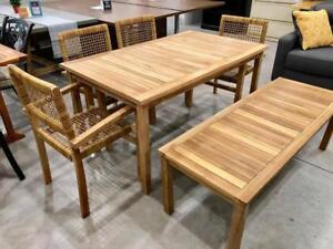 Ginger Teak Outdoor 6 Piece Dining Set