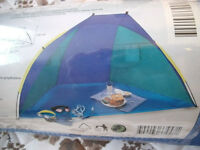 Beach tent / shelter with assembly instructions. Never used.