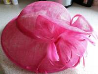 Debernhams Hat box fascinator pink one size