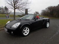 TOYOTA MR2 ROADSTER SPORTS CONVERTIBLE 6 SPEED 2004 ONLY 77K MILES BARGAIN £2250 *LOOK* PX/DELIVERY