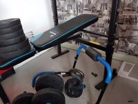 Hardly used Men's Health folding weight bench