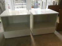 2 White NEXT Bedside Tables. Very good condition.