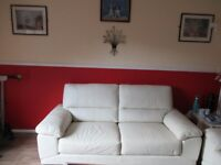 3 Seater Leather sofa with chair