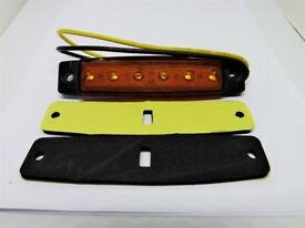 24 Volt Truck / Trailer LED Side Marker Lamps - AMBER - NEW