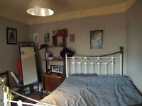 Double White and Brass Ikea Bed Frame