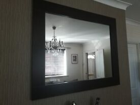 Next Home Dark Oak Mirror & Corner Unit