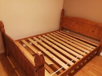 King size bed frame - solid wood