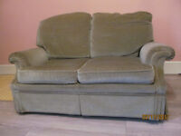 2 seater beige/sand sofa. SELBY