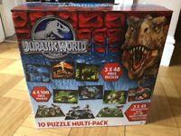 Jurassic world dinosaur puzzles x10 in a box