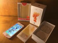 iPhone 6S / 16GB / Unlocked / Rose Gold - Customised / boxed with brand new accessories £125.00