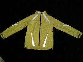 Crane Sports Reflective Flourescent Cycle Jacket *NEW* SMALL 34-36in chest