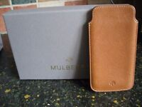 Mulberry iPhone case in Oak Leather