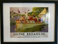 Framed print The Broads poster British Holiday