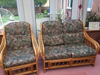 2 seater and a chair conservatory furniture