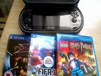 Sony PS Vita, Perfect Condition, 3 Games (not DS) Play Station Vita (can use as ps4 controller!)