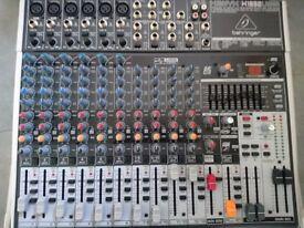 Behringer XENYX X1832USB Mixer & Flight Case + Headphones + Cables