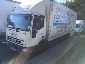 IVECO 7.5 TON REMOVAL TRUCK BOX TRUCK, RUNS AND DRIVES WELL, OUT OF TEST.