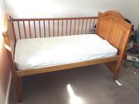 Baby Cot bed paid over£200, £40 or nearest offer, plus new wooden changing mat see pics £12