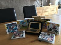 Nintendo 3DS console and games - Gold limited edition