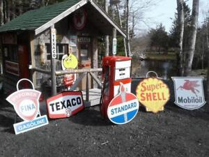 OLD SKOOL GASOLINE AND AUTO SERVICE SIGNS