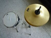 Junior Hi Hat, Snare Drum and drumsticks