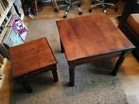 Coffee table and matching smaller side table