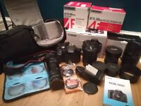 Awesome Canon DSLR Bundle including Canon 500d, 3 lenses and Lowepro bag