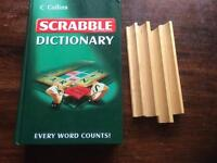 Scrabble Dictionary and 4 tile racks