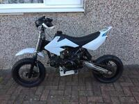 140cc Lifan White Super Moto Pitbike Dirtbike Motocross