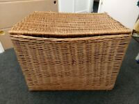 Very large wicker basket for sale in good condition.