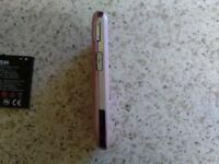 Rio mobile phone in pink excellent condition hardly used