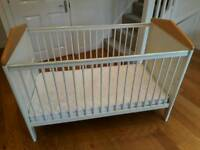 Mamas and Papas Cot/Toddler Bed plus mattress
