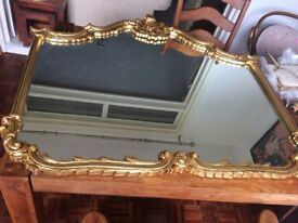 Extra large gold ornate mirror