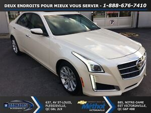 2014 Cadillac CTS 3.6L LUXURY+AWD+TOIT PANORAMIQUE+BLANC DIAMANT