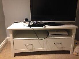 White wooden TV unit - £20