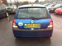 2005 RENAULT CLIO 1.5 DIESEL IN EXCELLENT CONDITION WITH MOT