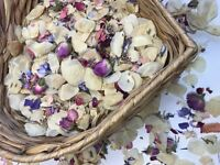 Real Petal Throwing Confetti. Dried & Biodegradable Flower Mix.
