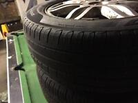 Alloy wheels and tyres on