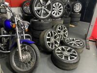 "18"" r8 v10 spider alloys wheels 5x100 audi a1 mk1 tt Vw mk4 golf bora polo Ibiza"