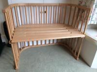 Babybay Maxi Bedside Cot/ Co-sleeper with mattress