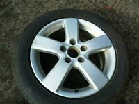 "2006 VW TOURAN 16"" ALLOYS WITH GOOD TYRES 5X112 **POSTAGE AVAILABLE**"
