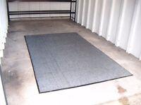 Grey/Black ex-commercial grade workmat (suit garage/workshop/conservatory)