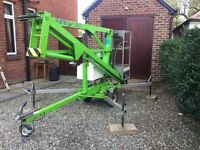 Cherry picker access lift nifty lift 90MEin vgc stored indoors £4,500 or nearest offer. No Vat