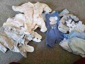 Tiny baby bundle clothes