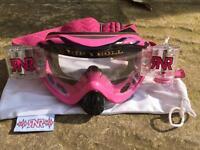 Rip n Roll Pink Goggles - Pitbike Motorcross MX
