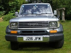 Toyota Landcruiser in great condition Recent engine work,MOT, Owned for 8 years. Lovely ole truck.