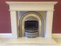 Beautiful gas fire and surround