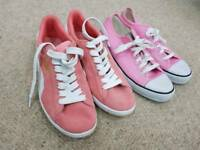 Two pairs of ladies trainers Puma and Dunlop