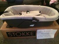 Stokke Grey Melange Xplory Carrycot Like New!