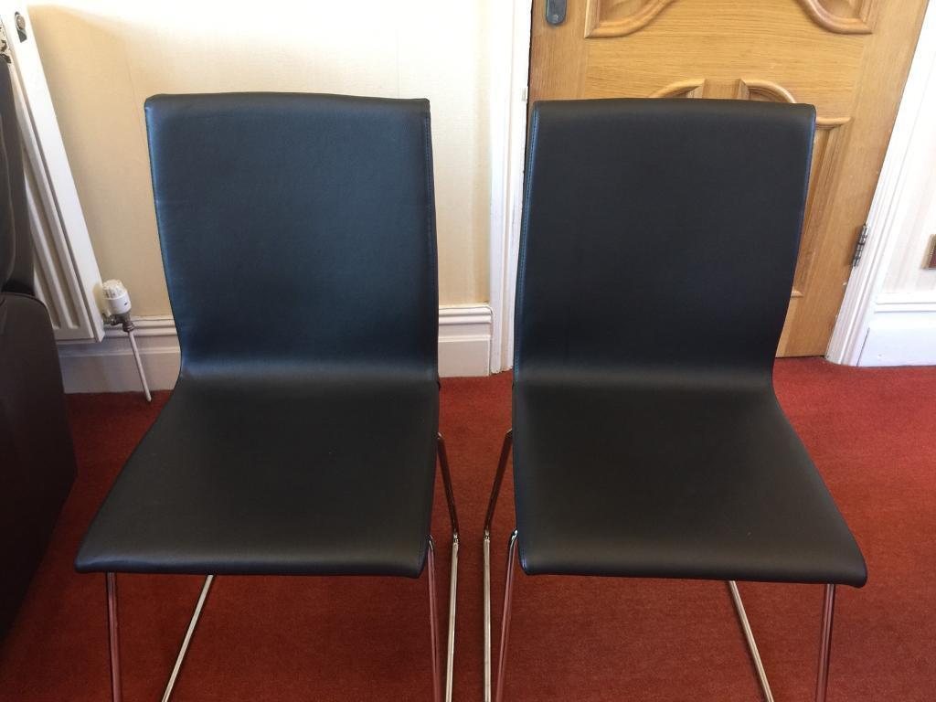IKEA Volfgang black and chrome dining chairs. | in Swinton ...